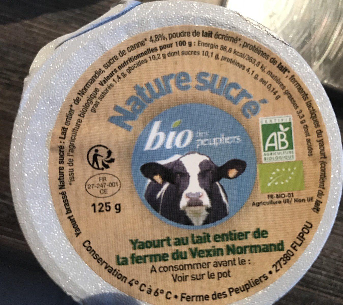 Nature bio brassé nature sucré - Ingrédients - fr