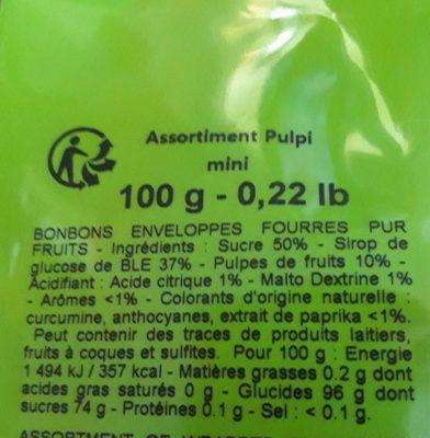 Pulpi - Ingrédients - fr