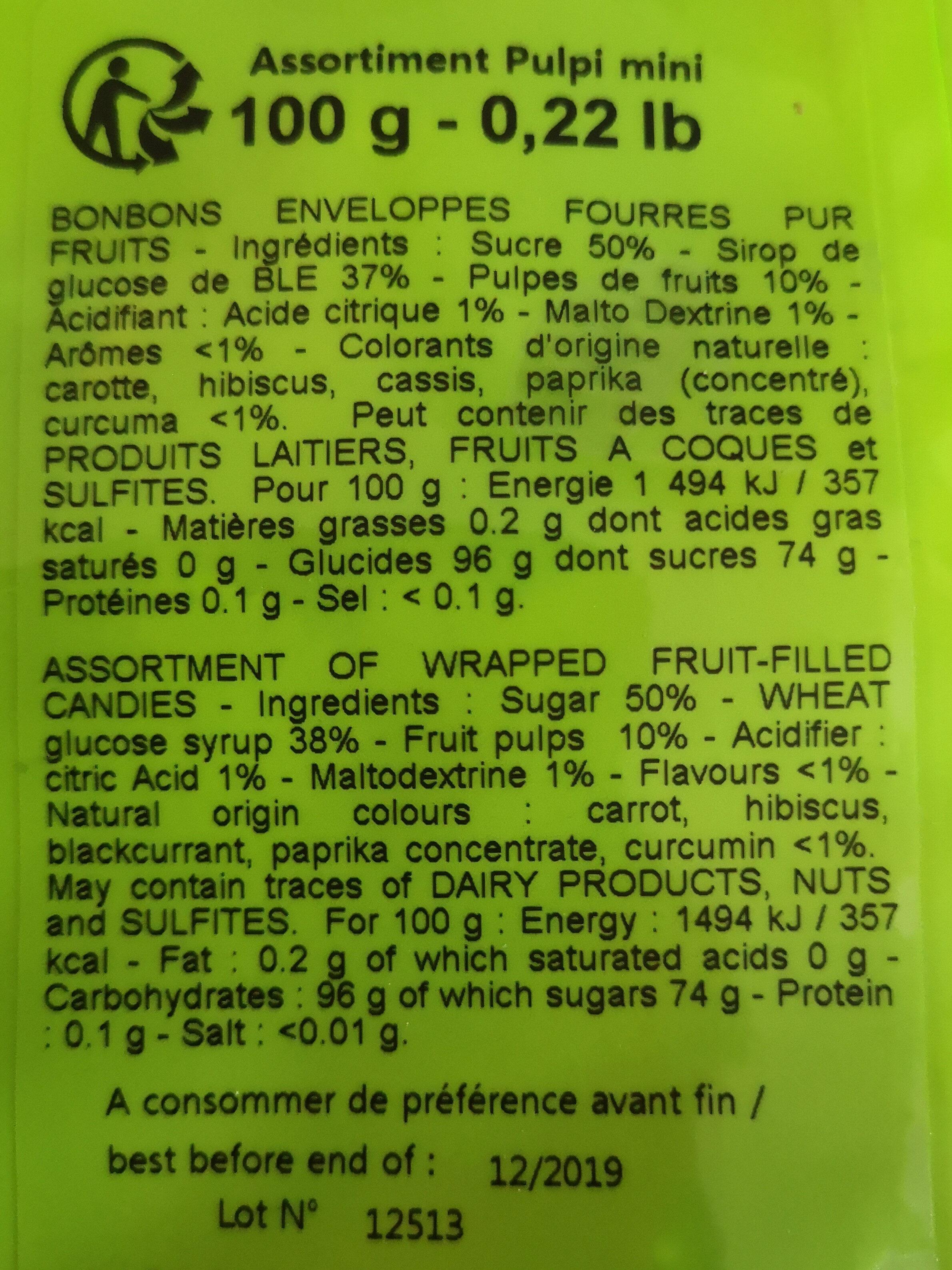 Pulpi - Informations nutritionnelles - fr