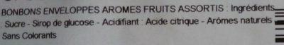 L'authentique sucre d'orge aux arômes de fruits assortis - Ingrédients - fr