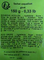 Coquelicot givré - Informations nutritionnelles - fr