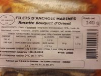 Filets d anchois marines - Ingredients - fr