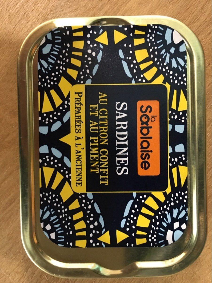 La Sablaise sardines au citron confit et au piment - Produit - fr