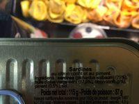 La Sablaise sardines au citron confit et au piment - Ingrédients - fr