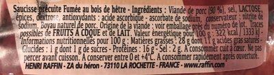 Véritables diots De Savoie Fumés à L'ancienne - Ingredients