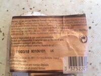 Saucisson sec Herbes de Provence - Ingrediënten