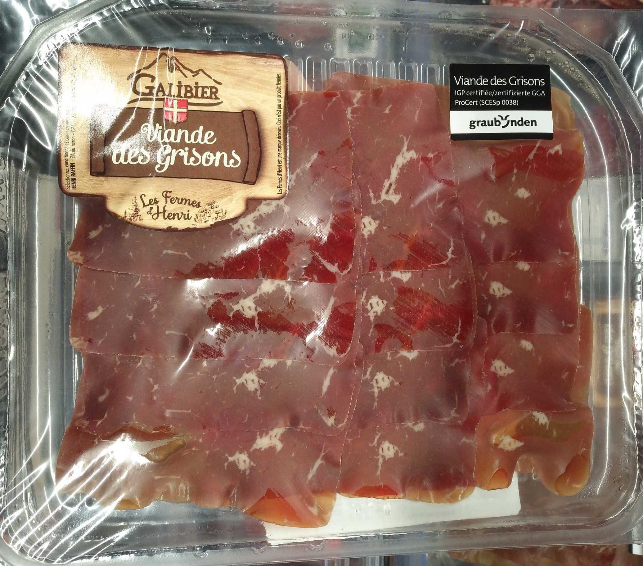 Viande des Grisons - Produit - fr
