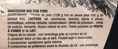 Saucisse de Savoie - Ingredients