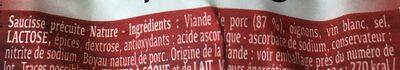 Diots a griller - Ingrediënten - fr