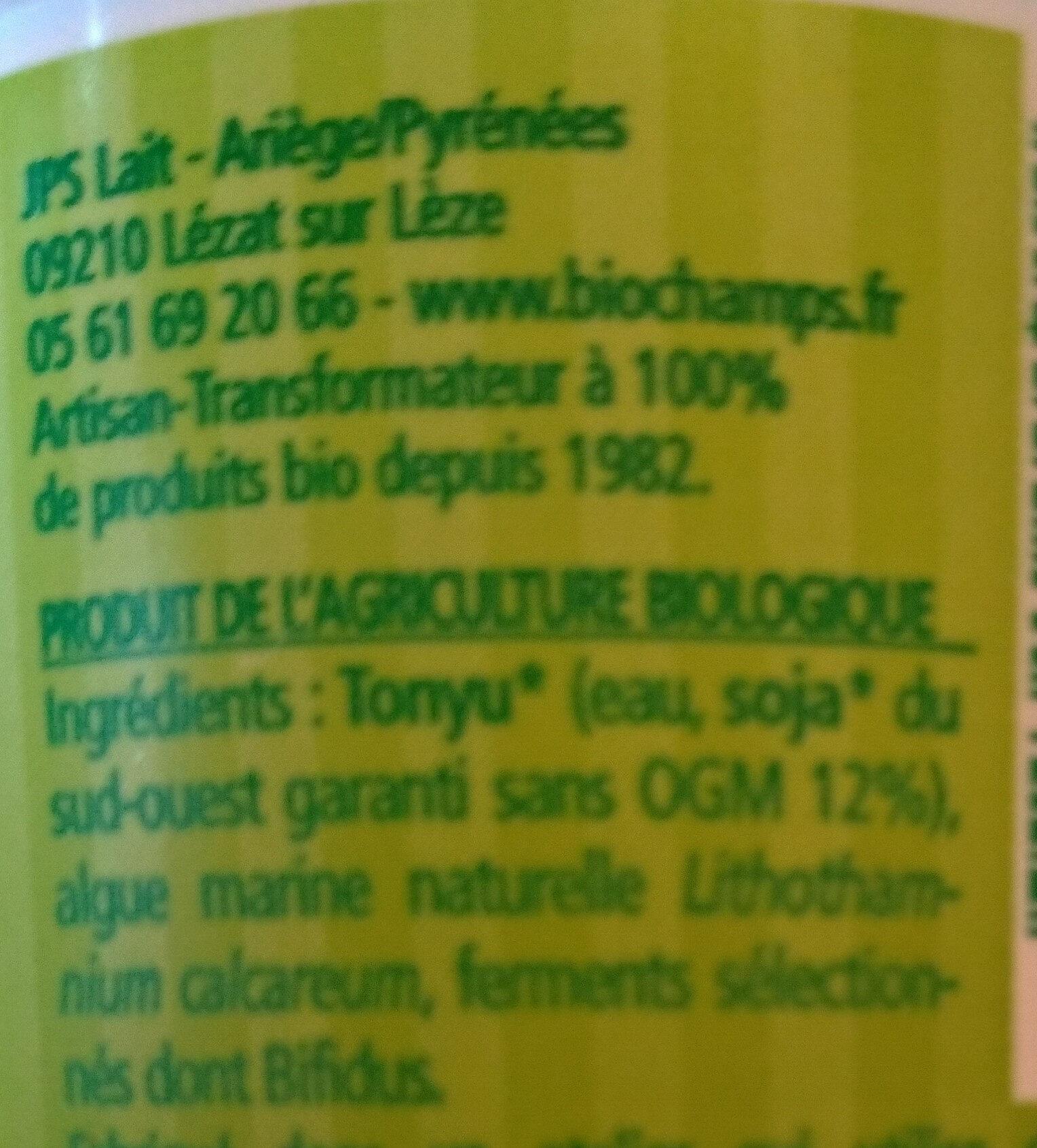 Soja Brassé Nature - Ingrédients - fr