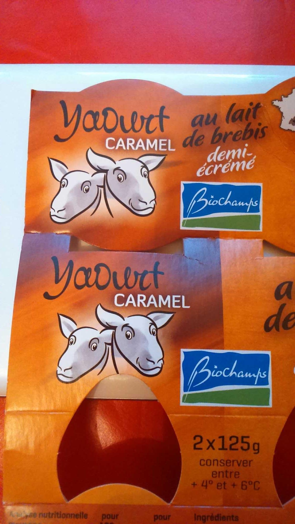 Yaourt Caramel au lait de brebis demi-écrémé Bio - Produit - fr