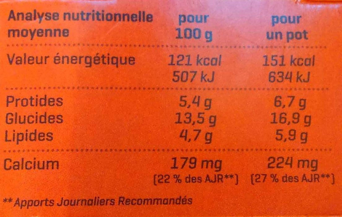 Yaourt Caramel au lait de brebis demi-écrémé Bio - Informations nutritionnelles - fr