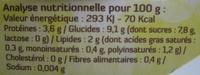 Soja brassé saveur Citron au Bifidus Bio - Informations nutritionnelles - fr