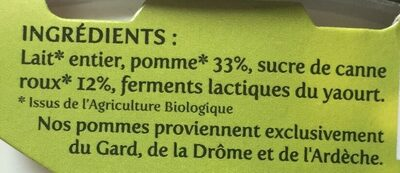 Yaourt Et Pomme - Ingredients