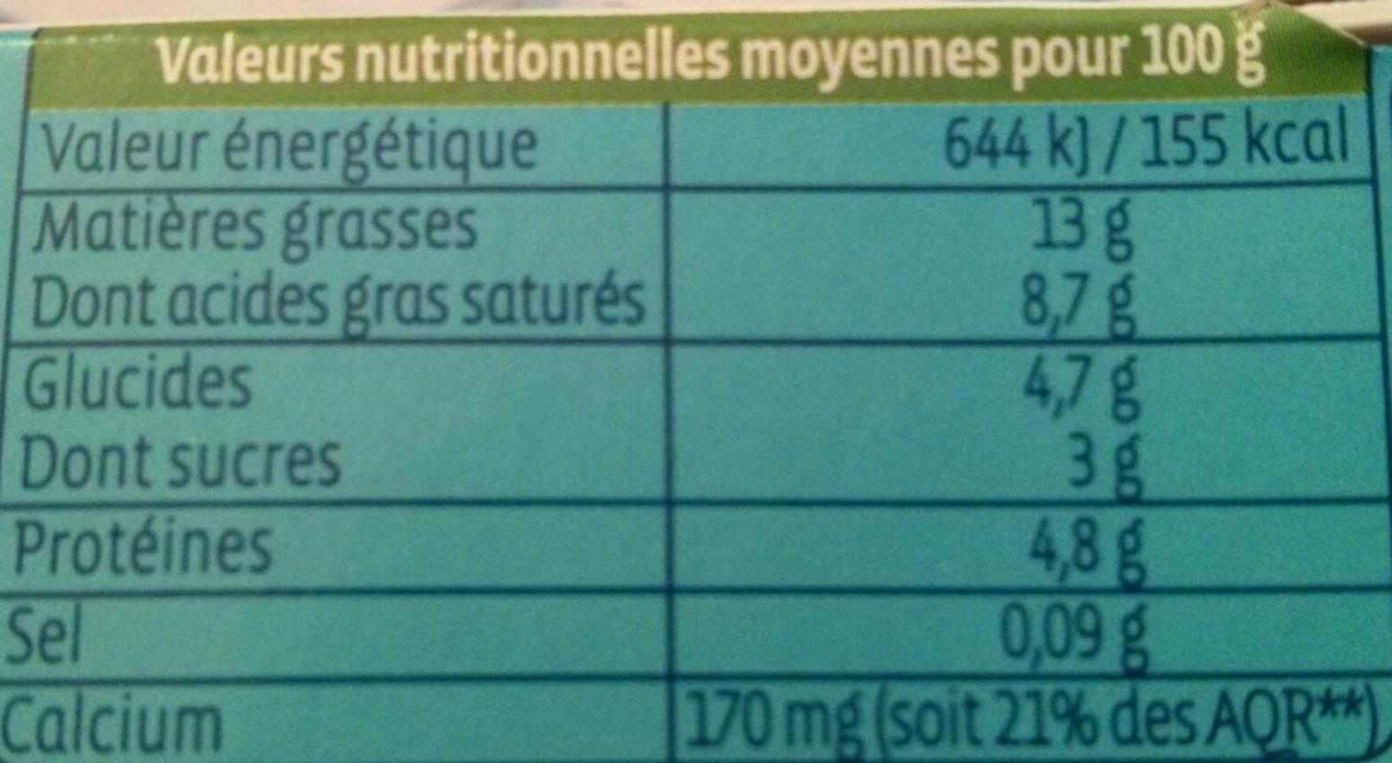 Yaourt à la grecque au lait de brebis nature - Nutrition facts