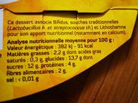 SOJA BRASSE SUR LIT D ABRICOT - Informations nutritionnelles - fr