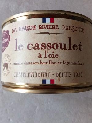 Cassoulet Castelnaudary au confit d'oie MAISON RIVIERE, boîte 1/2 - Product
