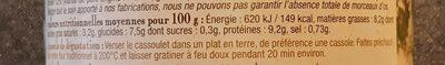 Cassoulet au confit d'oie - Informations nutritionnelles - fr