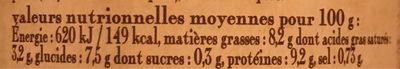 le cassoulet au confit d'oie de Castelnaudary cuisiné dans son bouillon de légumes frais, boîte 4/4 - Voedingswaarden - fr