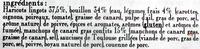 Le cassoulet au confit de canard, boîte 4/4 - Ingrediënten