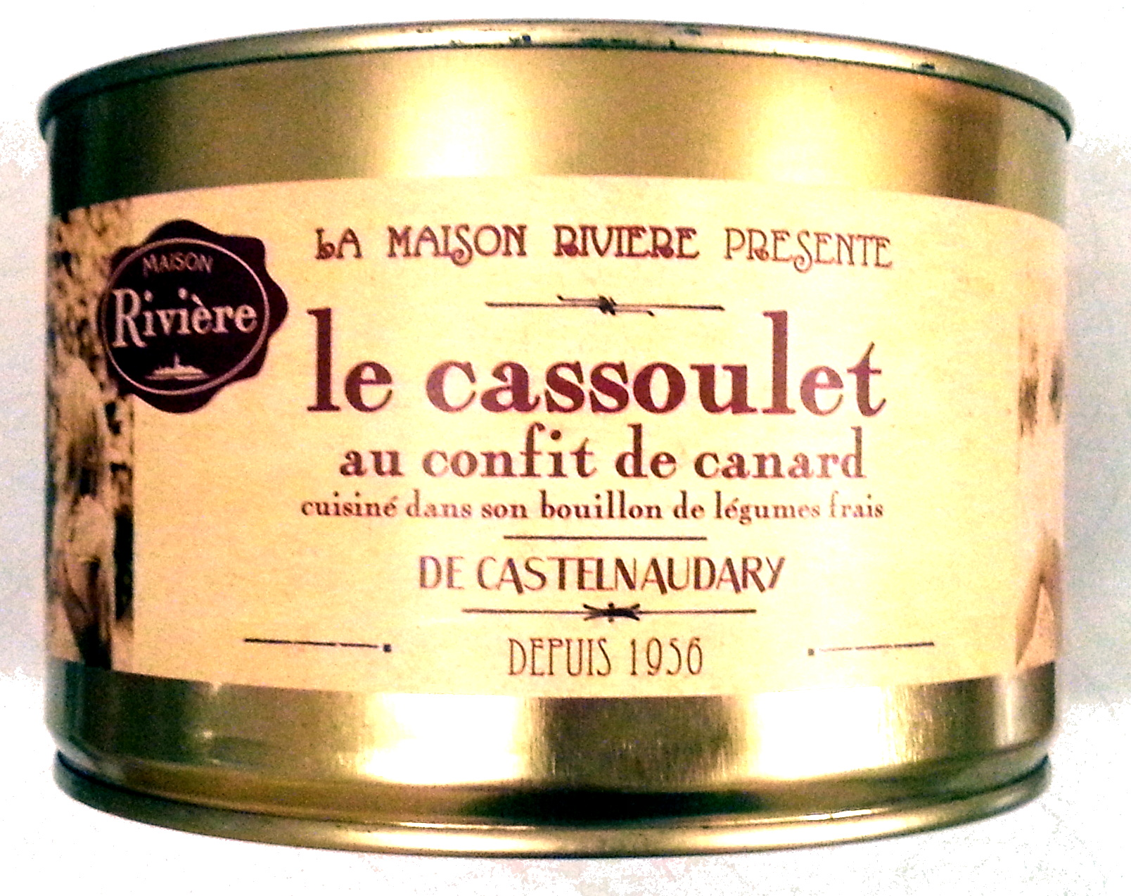 Le cassoulet au confit de canard de Castelnaudary cuisiné dans son bouillon de légumes frais, boîte 2/1 - Product