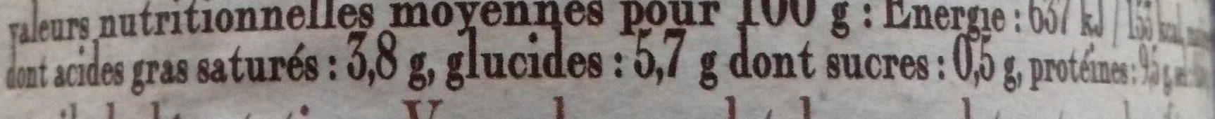 Le cassoulet au confit de canard de Castelnaudary cuisiné dans son bouillon de légumes frais, boîte 2/1 - Voedingswaarden