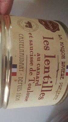 Les lentilles au canard et saucisse de Toulouse - Product - fr