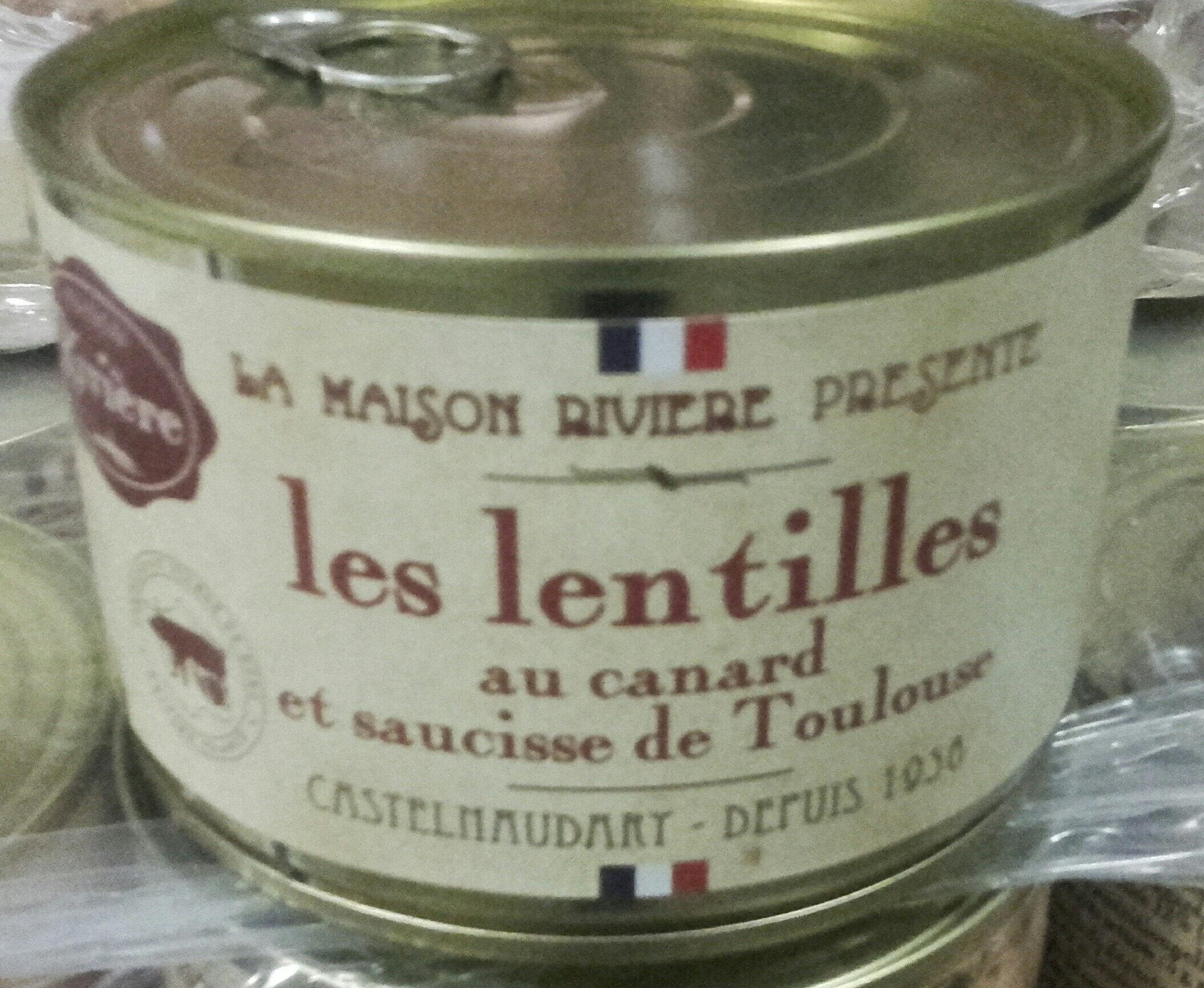 les lentilles au canard et saucisse de Toulouse, boîte 1/2 - Product