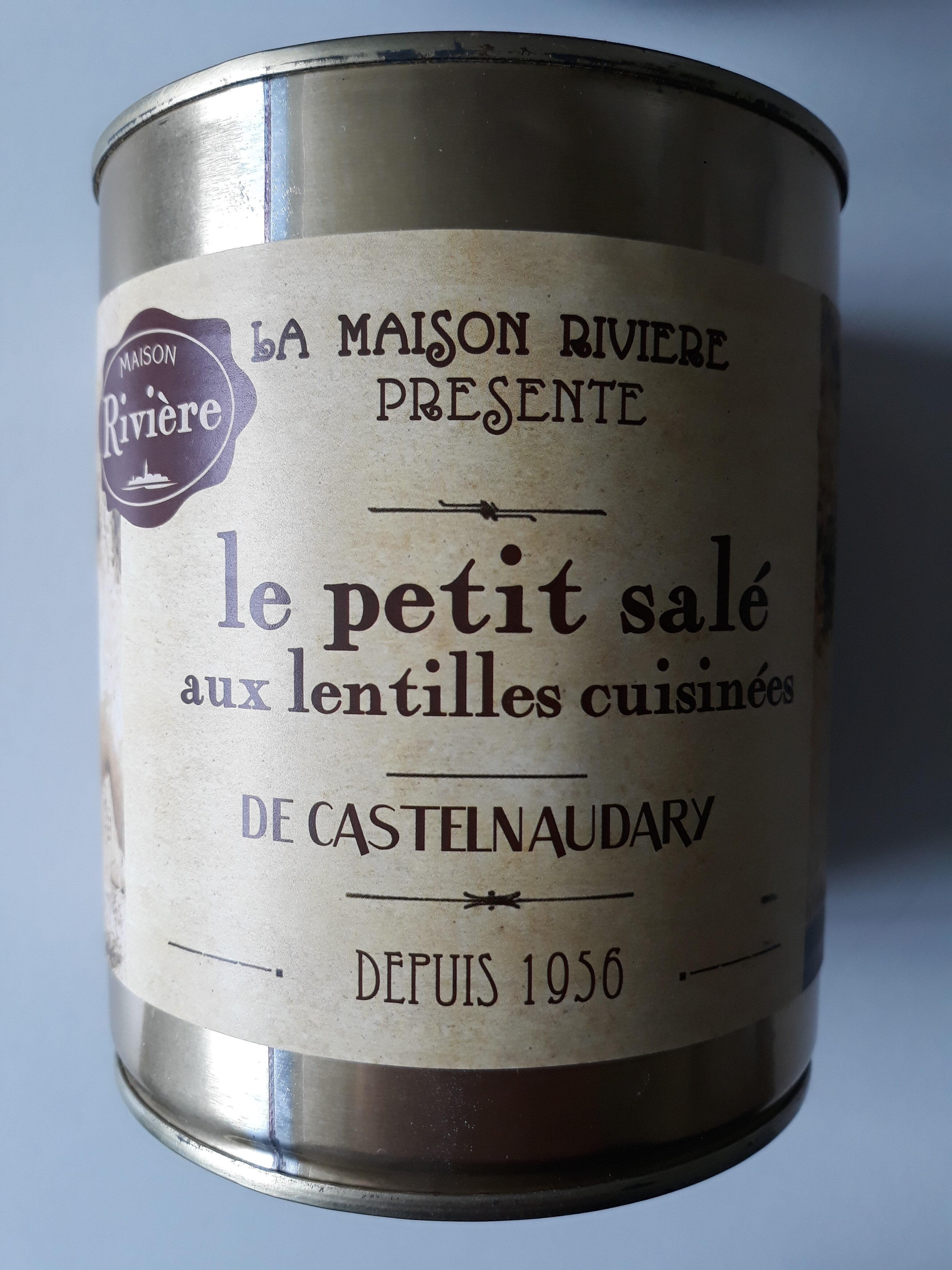 Petit salé aux lentilles MAISON RIVIERE, 4/4, boîte de - Product