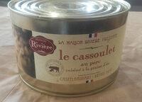 le cassoulet au porc cuisiné à la graisse d'oie, boîte 2/1 - Product - fr