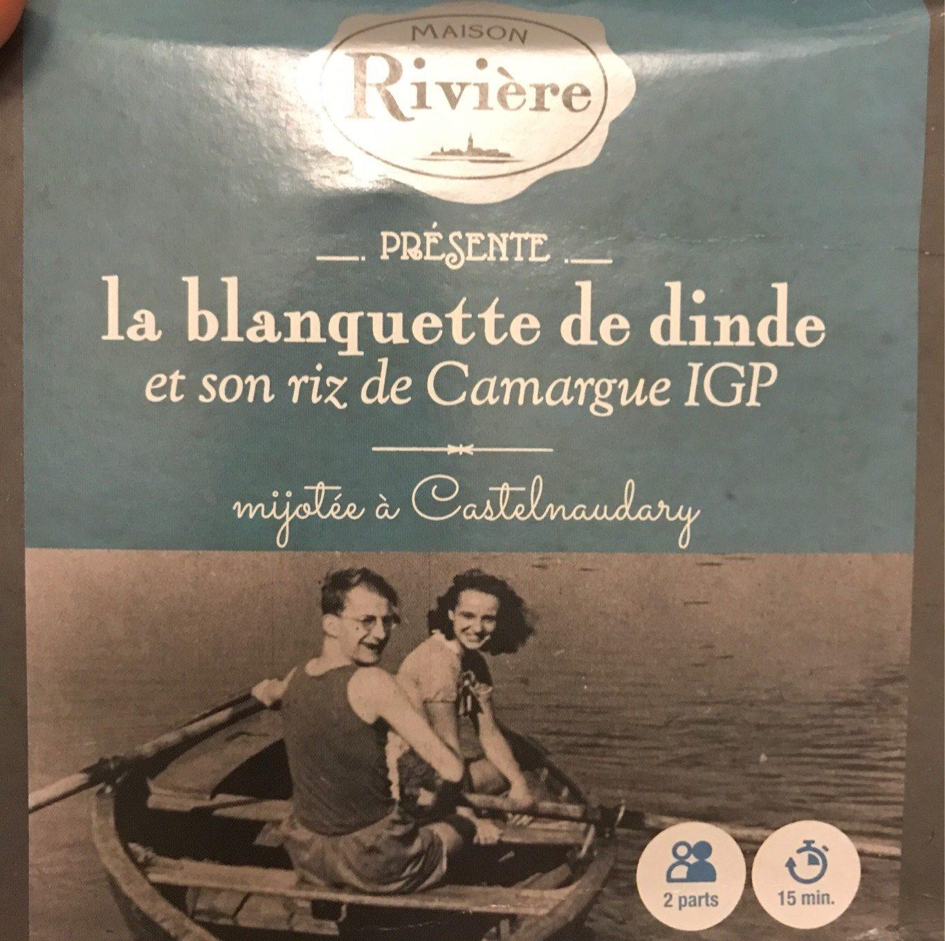 La blanquette de dinde et son riz de Camargue IGP - Product - fr