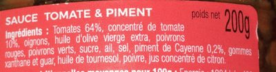 sauce apéritif tomate & piment - Ingrediënten