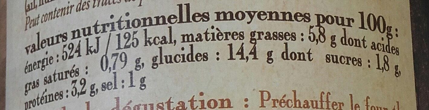 les quenelles sauce tomate et bouquet provençal, boîte 1/2 haute - Voedingswaarden
