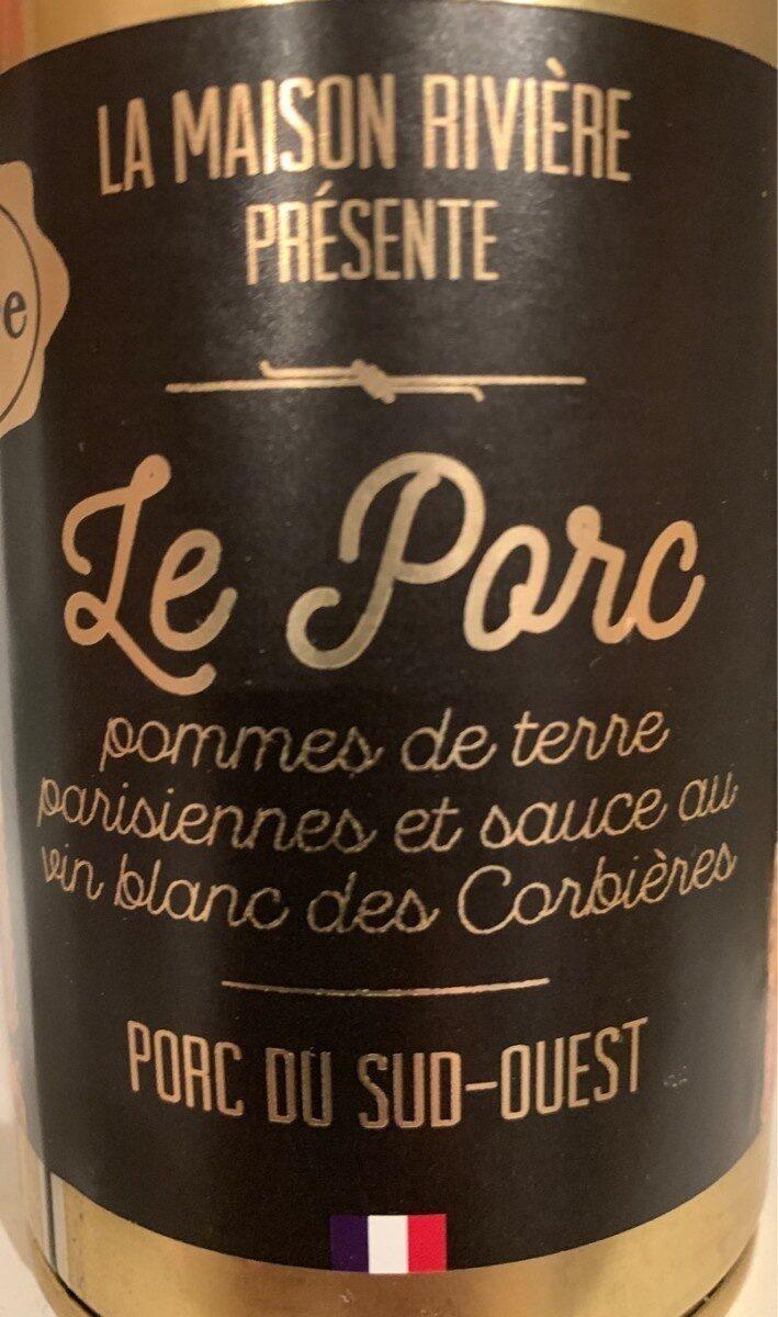 Le porc pommes de terre parisiennes et sauce au vin blanc - Produit - fr