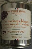 les haricots blancs et saucisses de Toulouse cuisinés à la sauce tomate, boîte 4/4 - Product