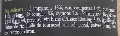 Le risotto aux légumes parmesan et vin blanc Riesling - Ingredients - fr