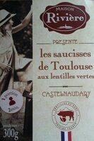 Les saucisses de Toulouse aux lentilles vertes - Product - fr
