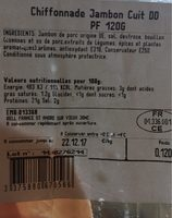 Chiffonade de jambon - Nutrition facts