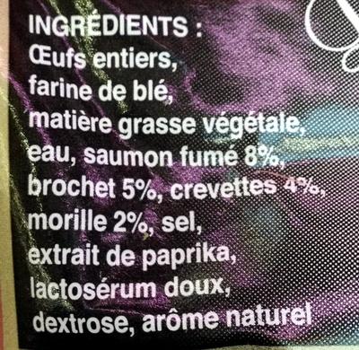 Quenelle gourmande - Ingrédients