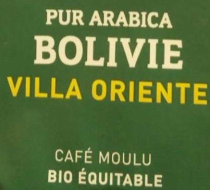 Bolivie Pur Arabica VILLA ORIENTE - Ingrediënten