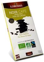 Tablette chocolat noir café 70% cacao Pérou - Product