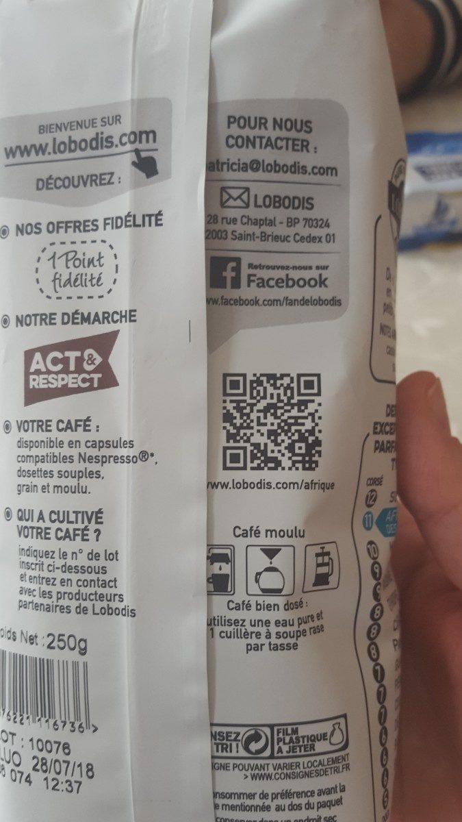 Café - Ingrediënten