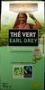 Thé vert Earl Grey bio éthiquable Lobodis - Produit