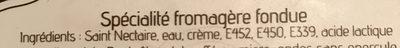Crème de Saint-Nectaire - Ingrédients