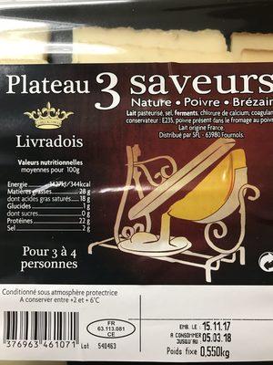 Fromage pour raclette nature/poivre/Brezain - Ingrédients - fr