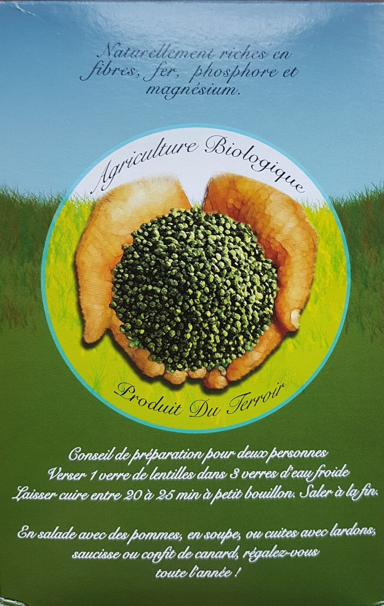 Lentilles vertes du gers - Ingredients