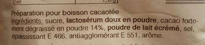 Déliss'Cao - Boisson arôme cacao - Ingredients - fr
