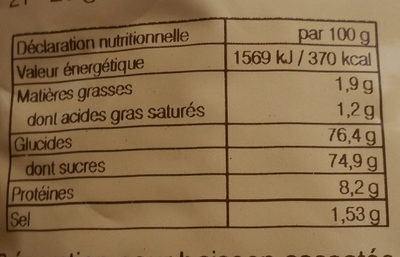 Déliss'Cao - Boisson arôme cacao - Nutrition facts - fr