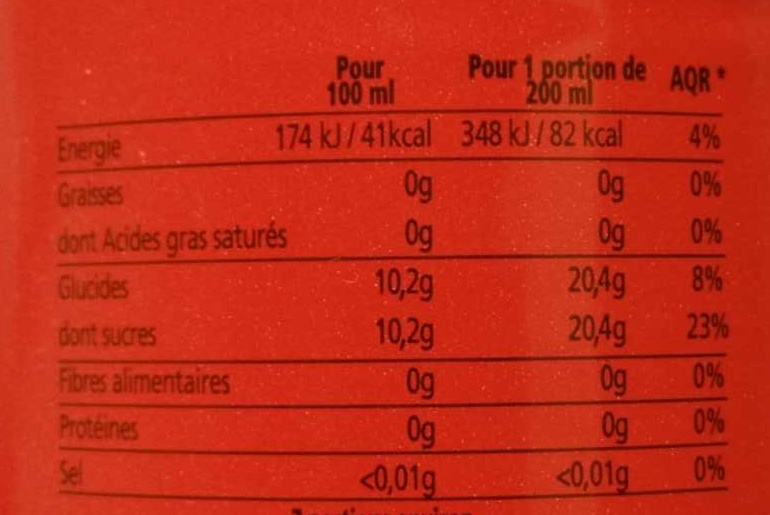 Selecto - Nutrition facts - fr