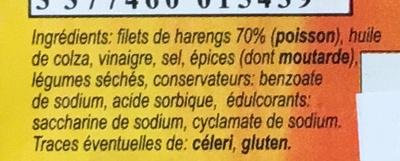 Filets de harengs façon tapas - Ingredients - fr